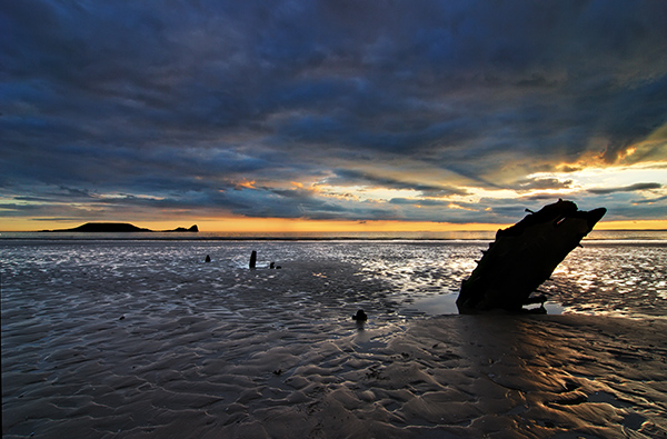 The Wreck, Rhossili Beach